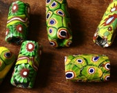 Antique Venetian glass, African trade beads, 7 vintage beads