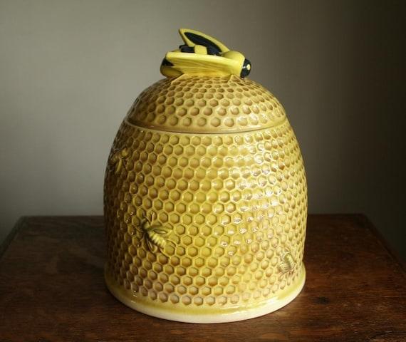 Bumble bee vintage cookie jar by cristinasroom on etsy - Beehive cookie jar ...