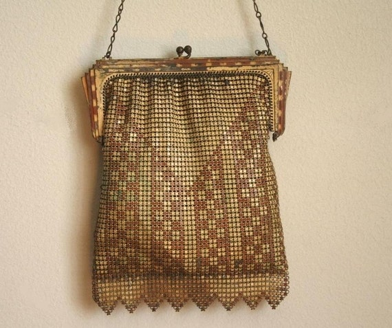 art deco vintage mesh purse