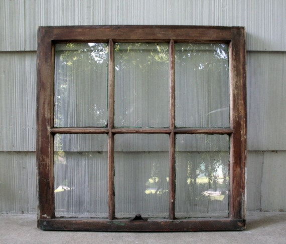 Salvaged 6 pane window,