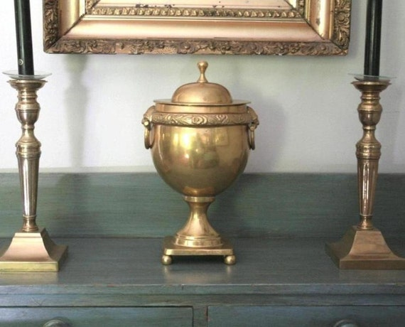 Brass urn, vintage brass RESERVED