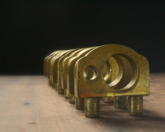Brass drawer pulls, Asian brass drawer pulls RESERVED