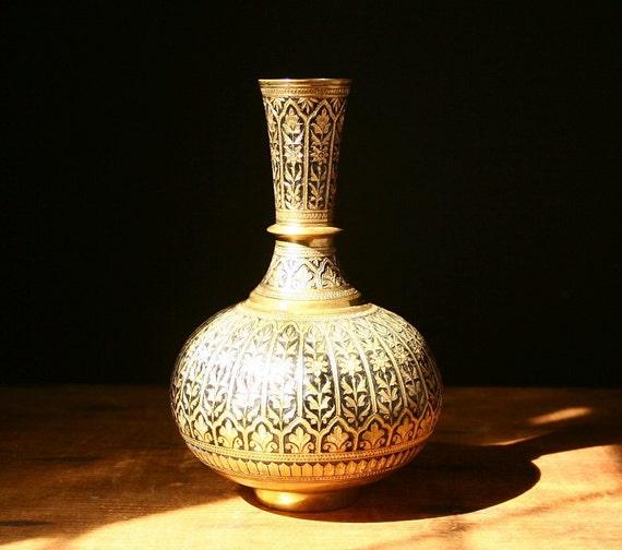 Vintage brass vase RESERVED