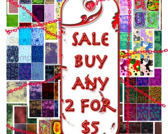 ATC Digital Collage Sheet SALE  2 for 5