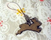 Leaping Bunny Rabbit Cellphone Charm
