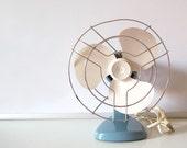 Vintage Pale Blue Electric Desk Fan
