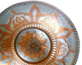 Vintage Copper Plate Wall Hanging
