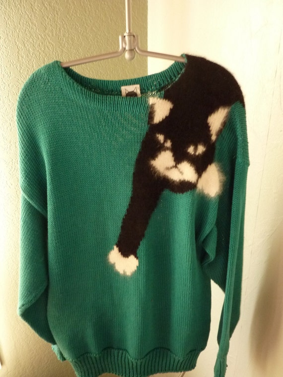 Mabels Cat Sweater: Rare 80s Vintage by TrumpVintage on Etsy