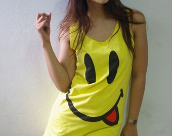Have a Nice Day Happy Face Summer Rock Tank Top M