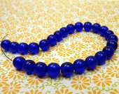 glass beads ( 25 pcs) - royal blue - 5mm