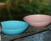 Stetson Melamine Pink/ Blue Snack Bowl