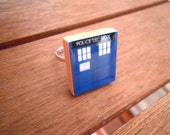 TARDIS Scrabble Tile Ring (Adjustable size)