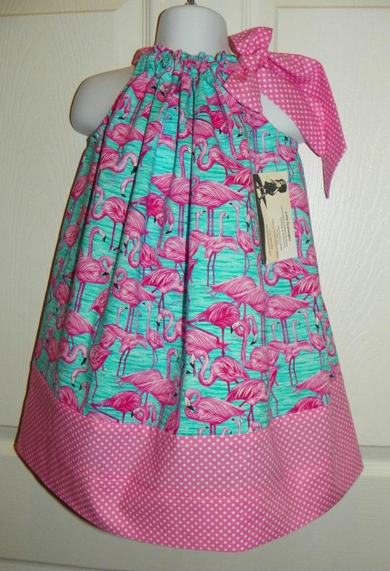 Flamingo Fandango Traditional Pillowcase Jumper Dress 3T