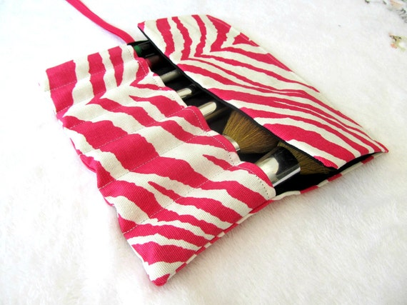 Zebra Print Brush Roll50% OFF coupon code: SUMMER12
