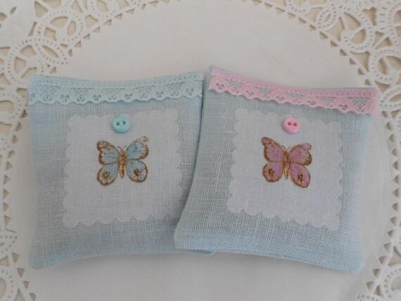 Two mini lavender sachets