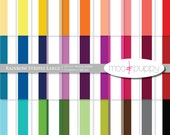Striped Digital Scrapbook Paper Pack  --  Rainbow  Stripes Large -- INSTANT DOWNLOAD