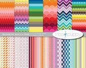Rainbow Digital Scrapbook Paper Pack  --  Rainbow Mecca One -- INSTANT DOWNLOAD