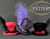 Crochet Pattern - Crochet Mini Top Hats (Pattern No. 033) - INSTANT DIGITAL DOWNLOAD