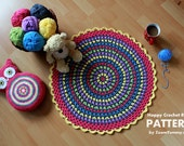 Crochet Pattern - Happy Crochet Rug (Pattern No. 030) - INSTANT DIGITAL DOWNLOAD