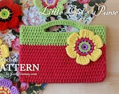 Crochet Pattern - Little Girl's Purse (Pattern No. 027) - INSTANT DIGITAL DOWNLOAD