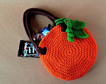 Crochet Pattern - Crochet Pumpkin Bag (Pattern No. 045) - INSTANT DIGITAL DOWNLOAD