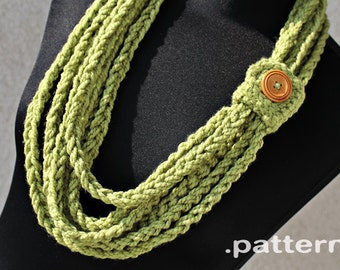 Crochet Pattern - Crochet Chain Scarf (Pattern No. 023) - INSTANT DIGITAL DOWNLOAD
