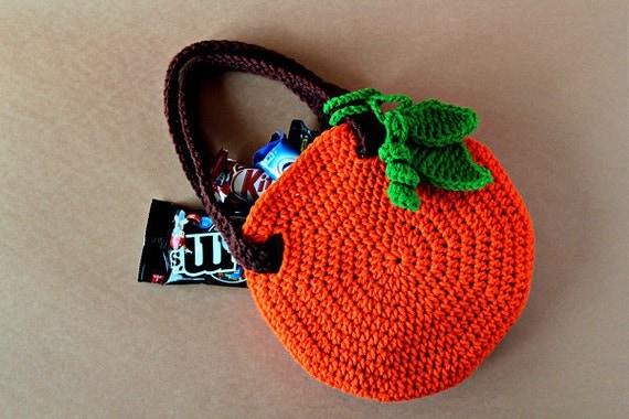 Crochet Pattern - Crochet Pumpkin Bag (Pattern No. 045) - INSTANT DIGITAL DOWNLOAD