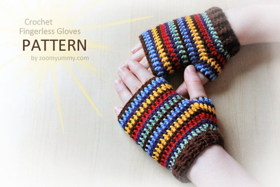 Crochet Pattern - Crochet Fingerless Gloves (Pattern No. 047) - INSTANT DIGITAL DOWNLOAD