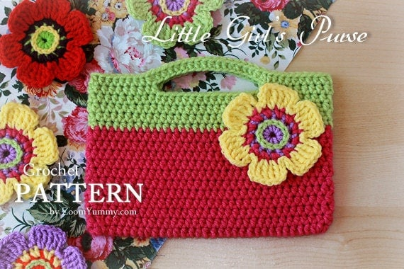 Crochet Pattern - Little Girls Purse (Pattern No. 027) - INSTANT ...