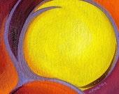 Pumpkin 8 original abstract oil painting
