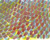 Cobblestones 1 original abstract watercolor