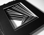 Framing- Photo Frames- Mat board - 16 pre cut  8x10 conservation Black photo mat boards - for 5x7photo