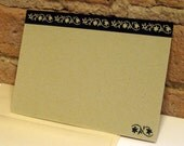 Tiny Floral Border Flat Notes (6 cards)