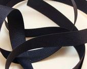 "5/8"" Grosgrain Ribbon - Navy Blue - Sewing Trim"