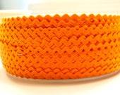 """11/64"""" Polyester Rick Rack in Orange"""