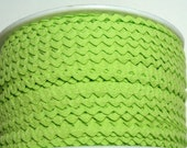 """11/64"""" Polyester Rick Rack in Apple Green - Ric Rac - Sewing Trims"""