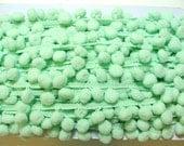 Pom Pom Fringe - Mint Green - 3 yards