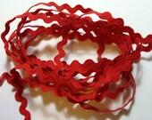 "1/2"" Polyester Rick Rack Trim - Red"