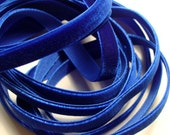 "3/8"" wide Velvet Ribbon - Royal Blue - 4 yards"