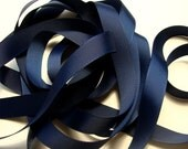 "5/8"" Grosgrain Ribbon - Navy Blue (2)"
