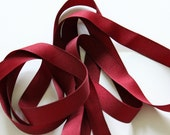 "5/8"" Grosgrain Ribbon - Burgundy/Wine"