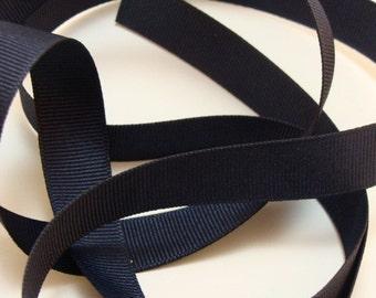 """5/8"""" Grosgrain Ribbon - Navy Blue"""