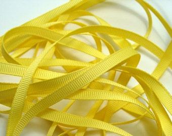 "1/4"" Grosgrain Ribbon -  Canary Yellow - 10 yards"