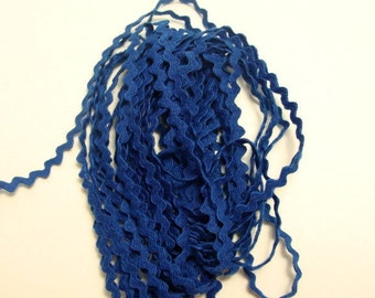 """11/64""""  Polyester Rick Rack in Royal Blue"""