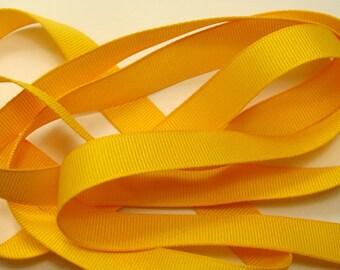 "5/8"" Grosgrain Ribbon - Yellow (Sunflower)"