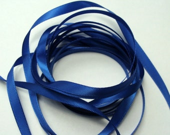"1/4"" Satin Ribbon - Royal Blue - 10 yards"