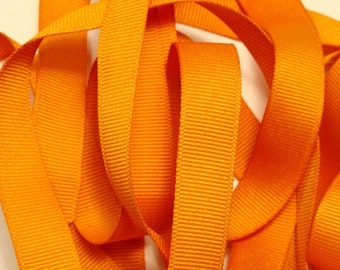 "5/8"" Grosgrain Ribbon - Antique Gold - Sewing Trim"
