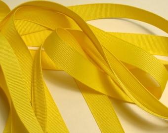 "5/8"" Grosgrain Ribbon - Canary Yellow"
