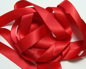 """5/8"""" Double-Faced Satin Ribbon - Red"""