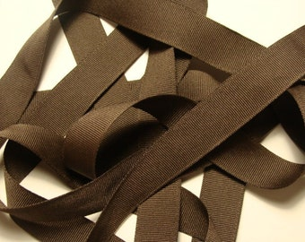 "7/8"" Grosgrain Ribbon - Brown - 5 yards"